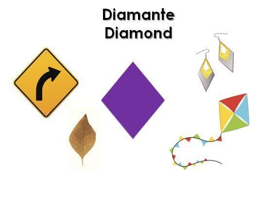 Pídele a tu pequeño que busque cosas en forma de diamante alrededor de l...
