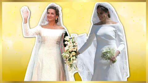 Comparan vestido de Meghan Markle con el de la infanta Cristina
