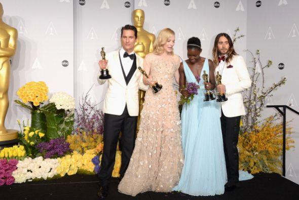 El actor Mathew McConaughey, la actriz Cate Blanchett, la actriz Lupita...