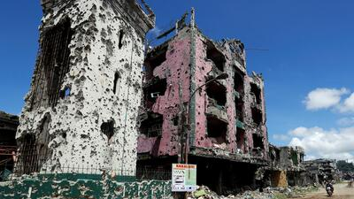 En ruinas y despoblada, así dejó el grupo Estado Islámico esta ciudad filipina tras su paso