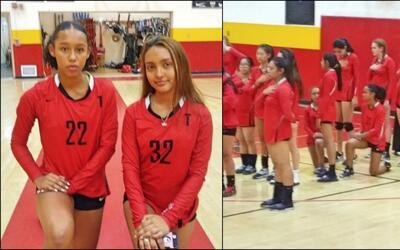 Chirstine Sosa y Kassandra Chacón Salgado, estudiantes de Taft Hi...