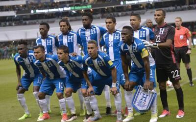 La selección de fútbol de Honduras.
