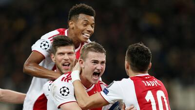 En fotos: Ajax se confirmó en octavos de final con triunfo en casa del AEK Atenas