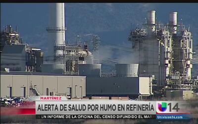 Alerta de salud por refinería