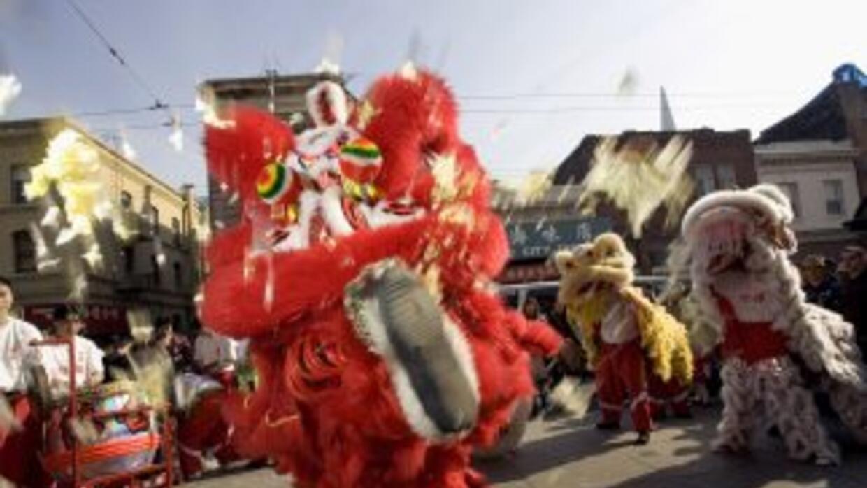 Celebración del año del dragón en China