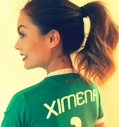 Ximena Navarrete se unió a la celebración con esta playera de la Selecci...