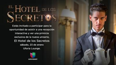 """Sé uno de los invitados a la primicia de """"El Hotel de los Secretos"""" 568a..."""