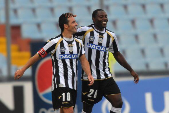 Di Natale marcó un 'hat-trick' y Udinese se impuso por 4-0.
