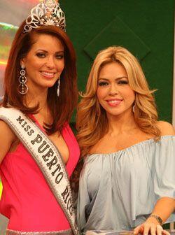 Claudia tuvo la oportunidad de compartir con Miss Puerto Rico cuando est...
