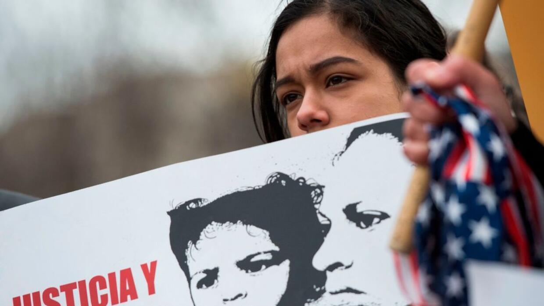 Una protesta a favor de los inmigrantes salvadoreños, en Washington DC.