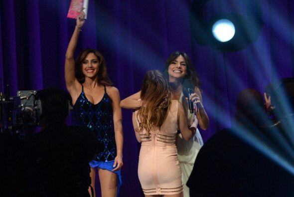 Por su parte, Gabriela Álvarez estaba tan contenta, que por un mo...