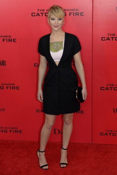 Jennifer Lawrence poco a poco se ha ido animando a lucir sostenes más es...