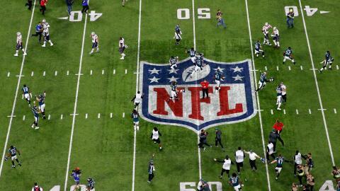 Una vista aérea del U.S. Bank Stadium, en Minneapolis, Minnesota,...