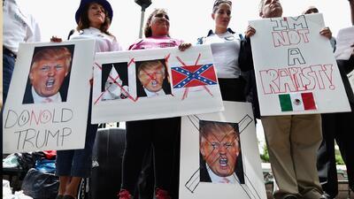 Protestan en las calles de Washington en contra de Donald Trump
