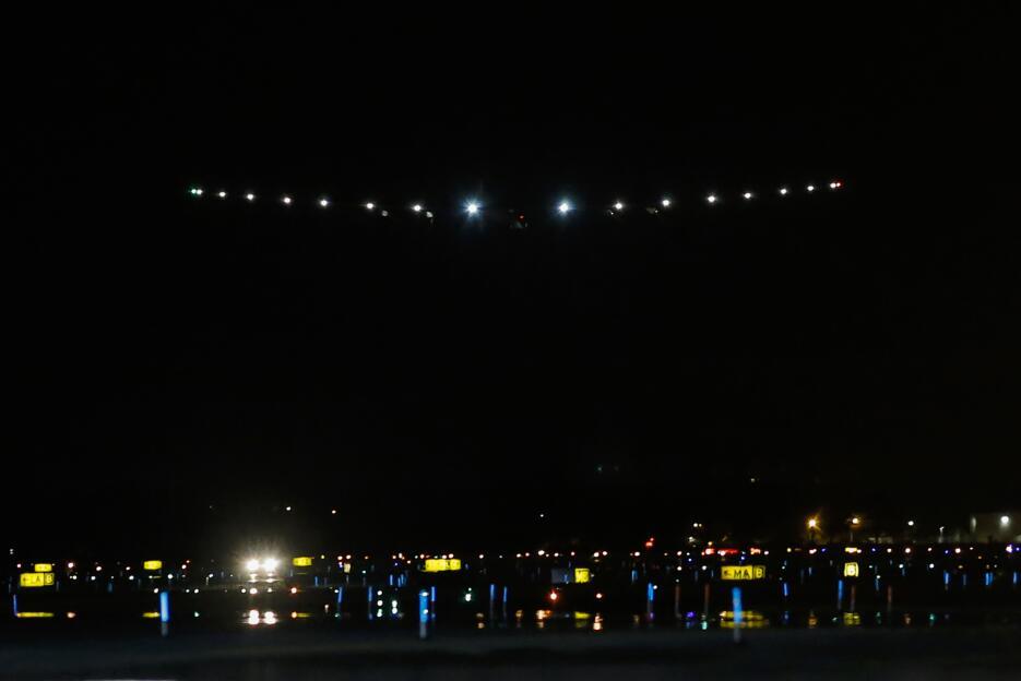 Su aterrizaje, a las 3:59 a.m. en el aeropuerto John F. Kennedy.