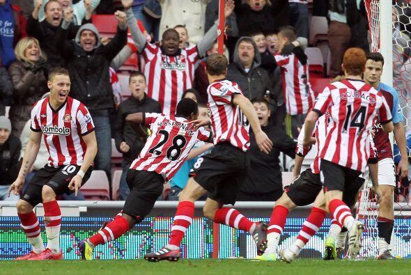 En otro de los partidos, Sunderland le empató milagrosamente al Aston Vi...