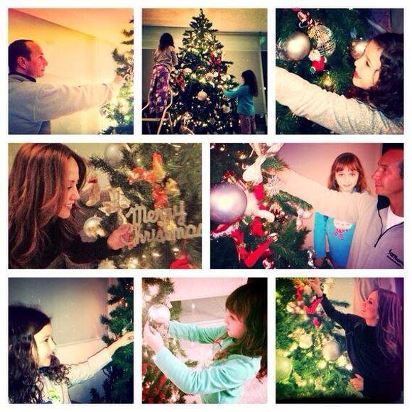 """""""#Listo!! #FamilyTime #FelicesFiestas!!!"""", compartió Andrea Legarreta. (..."""