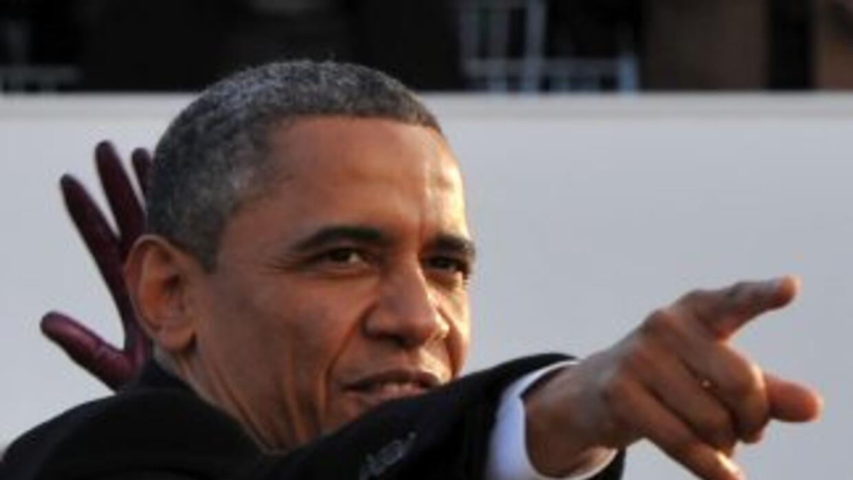 El presidente de Estados Unidos, Barack Obama, durante uno de los actos...