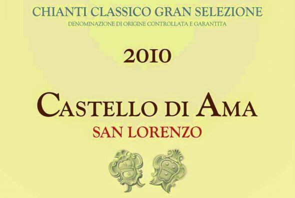El sexto lugar es para el Castello di Ama, cosecha 2010 de la casa itali...