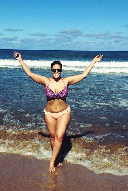 En realidad, esta mujer sí posee un cuerpo perfecto y real, con grandes...