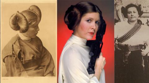 Princesa Leia peinados méxico