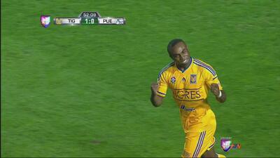 Tigres le dio el primer zarpazo a Puebla, Gerrón anotó su primero del to...