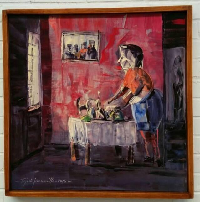 Pintura 'Mi tía Teresa', parte de la obra de uno de los condenados por e...