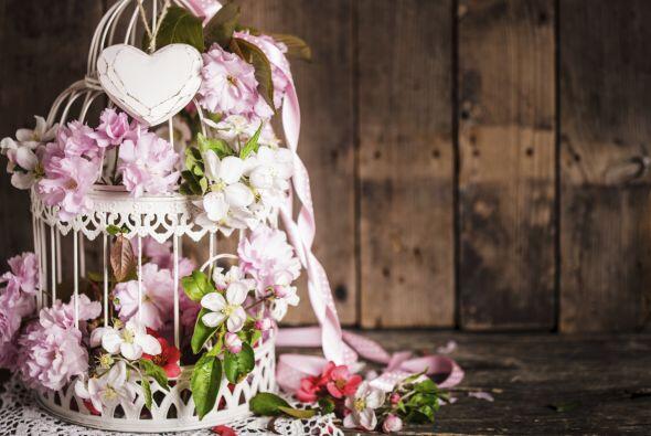Otra forma, más original de presentar las flores es dentro de jaulas de...
