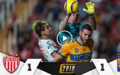 Rayos y Tigres empataron en la fecha 16 del Clausura 2018.