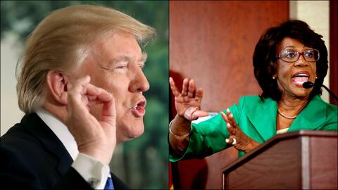 Donald Trump y Maxine Waters.