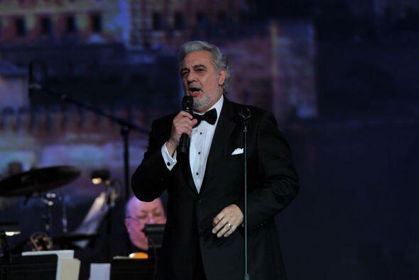 Por supuesto, Plácido Domingo deleitó a los presentes con su voz.