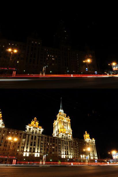 El Partenon de Grecia, el estadio nacional en Polonia, y el Kremlin en M...