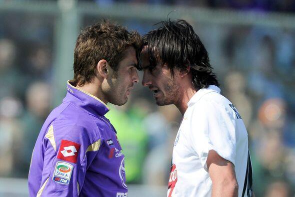 El buen ambiente tampoco reinó en la cancha de la Fiorentina.