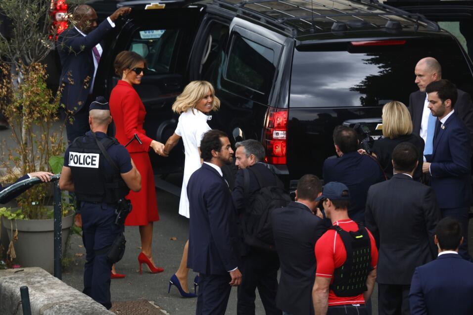 Donald Trump y Emmanuel Macron habían pasado todo un día de reuniones. L...