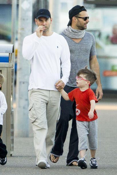 Pero Ricky y Carlos siempre se mostraron como dos papás cari&ntil...