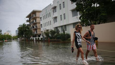 Las inundaciones, comunes en Miami Beach, ya se están sintiendo e...