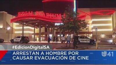 Arrestan a hombre por causar una evacuación en un cine de Huebner Oaks