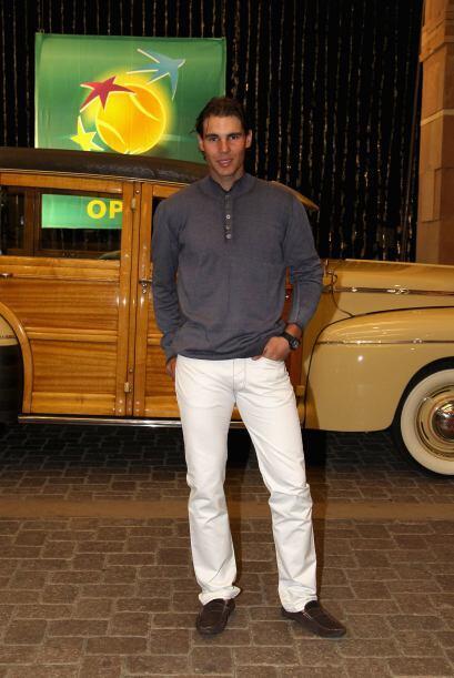 Y el favorito de las damas y del torneo, el español Rafael Nadal.