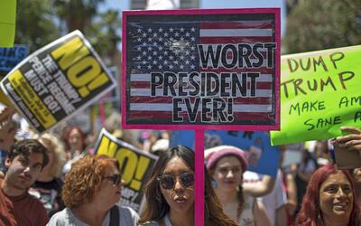 Protesta contra el presidente Donald Trump.