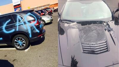 Cuando los carros son víctimas de las venganzas
