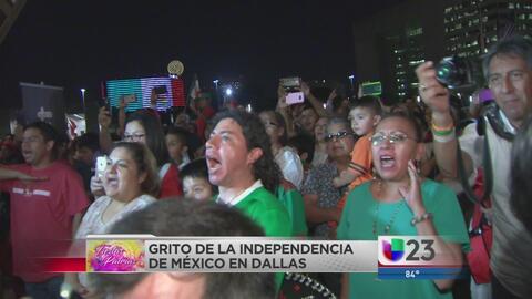 Mexicanos celebran 'Grito de Independencia' en Dallas