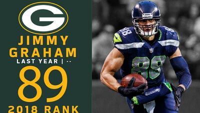 #89 Jimmy Graham (TE, Packers) | Top 100 Jugadores NFL 2018