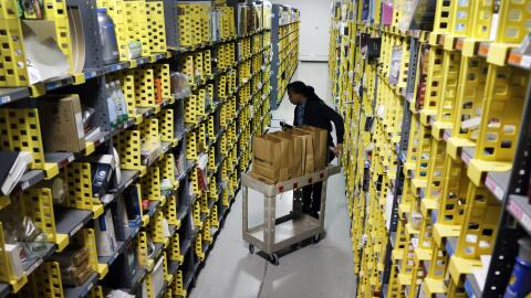 Un centro distribuidor de Amazon.