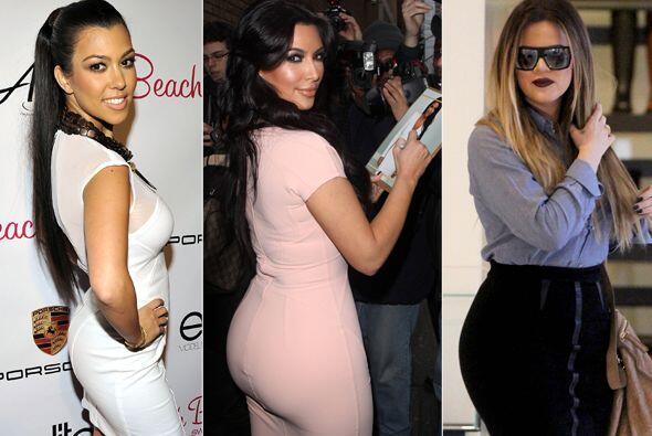 """Kim, Khloé y Kourtney presumen de tener la """"retaguardia&quot..."""