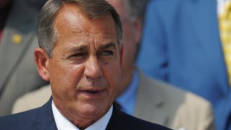 El presidente de la Cámara de Representantes, John Boener (republicano d...