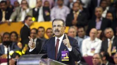 El candidato oficialista a la Presidencia de la República Dominicana Dan...