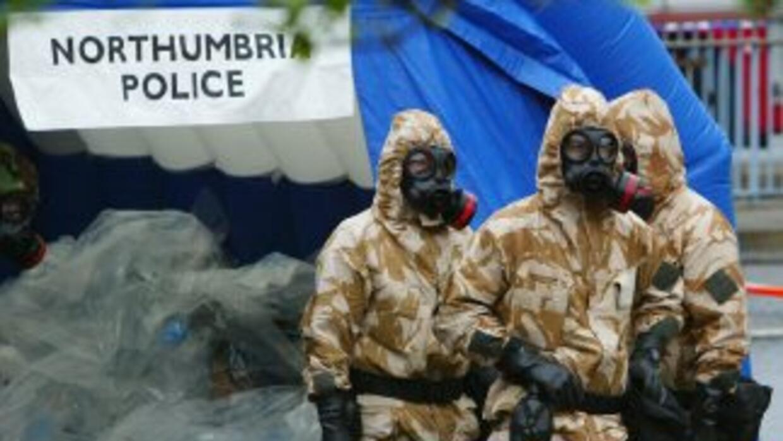 Simulacro de un ataque químico en Londres, Inglaterra.