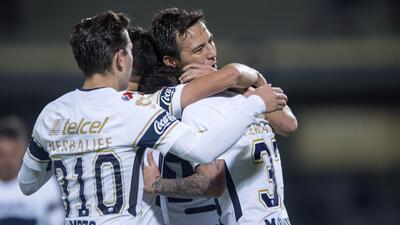 Pumas le ganó 3-1 a Lobos para colgarse de la cima en el grupo 5 de la Copa MX