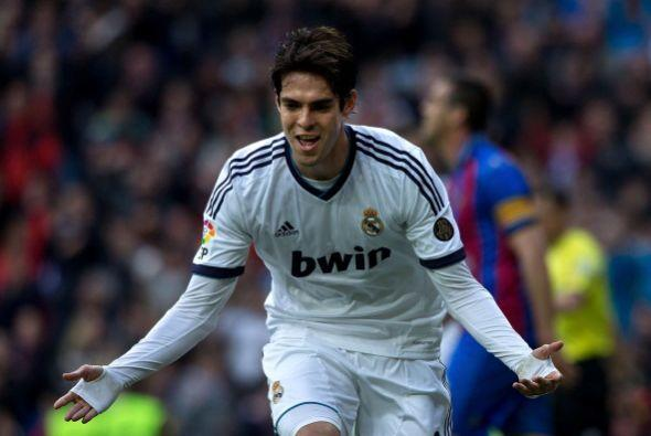 Celebración de Kaká que jugó un buen partido.