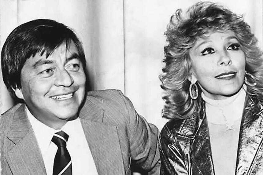 Silvia Pinal y su esposo Tulio Hernández.